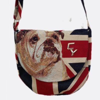 Englische- Bull- Dog -Tasche